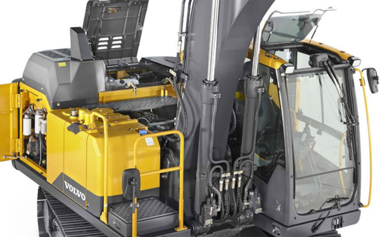 Рабочие узлы экскаватора Volvo EC160E