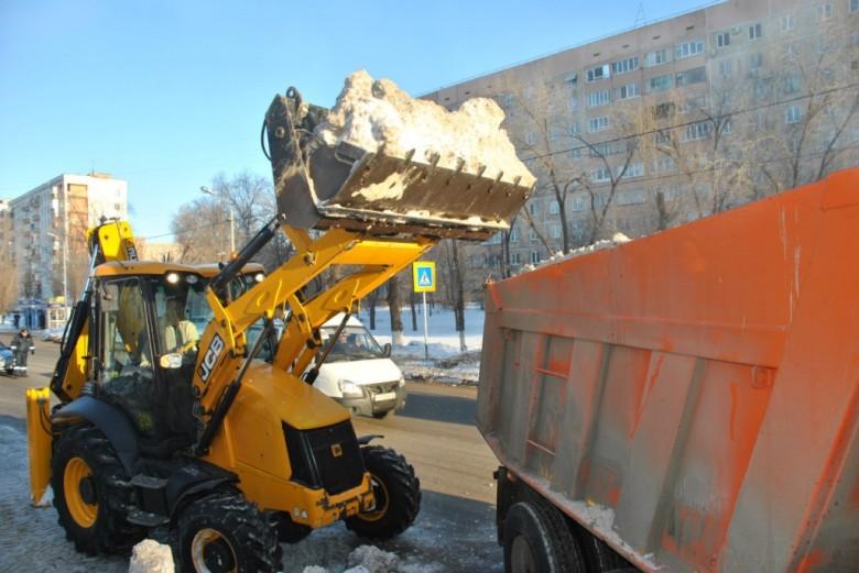 Уборка снега на JCB 3CX