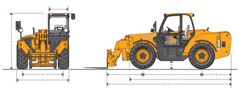 Габариты JCB 535-125 HiViz