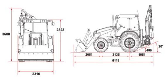 Габаритные размеры модели Терекс 840