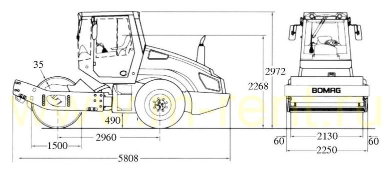 Габаритные размеры Bomag BW 213 D-4