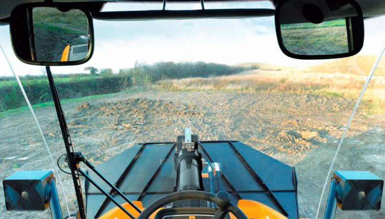 Вид из кабины оператора